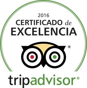 Certificado de Excelencia de Tripadvisor 2016 para la Hostería de Arnuero, Cantabria